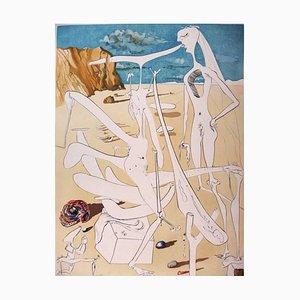 Gravure à l'Eau-Forte Infra-Terrestrians Adored par Dali par Salvador Dali, 1974