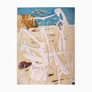Infra-Terrestrians Adored by Dali Etching by Salvador Dali, 1974