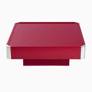 Roter italienischer Vintage Hochglanztisch von Mario Sabot, 1960er