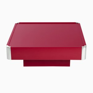Vintage Italian Red High-Gloss Coffee Table from Mario Sabot, 1960s