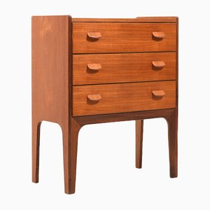Small Vintage Danish Chest of Drawers by Poul Volther for FDB, 1950s