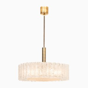 Vintage Glass Ceiling Lamp from Doria Leuchten
