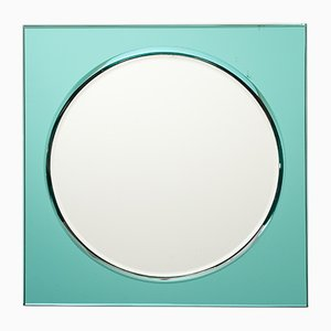 Vintage Italian Turquoise Mirror from Fontana Arte, 1960s