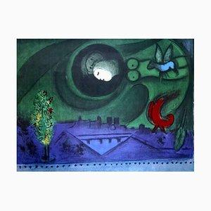 Bruxelles Oeuvre Gravé Ausstellungsposter von Marc Chagall, 1972