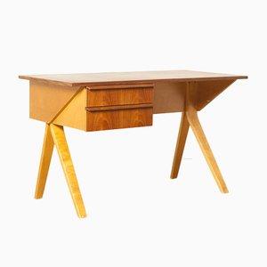 Model EB02 Birch Desk by Cees Braakman for Pastoe, 1950s