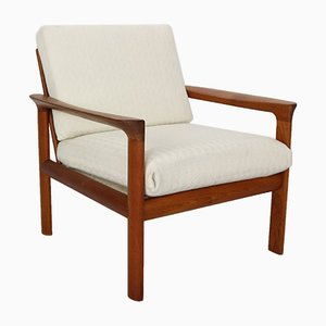 Danish Teak and Wool Borneo Lounge Chair by Sven Ellekaer for Komfort, 1960s