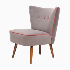 Mid-Century Grey Cocktail Chair, 1950s