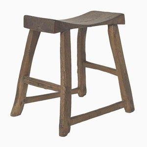 Antiker chinesischer Sattelhocker aus Holz