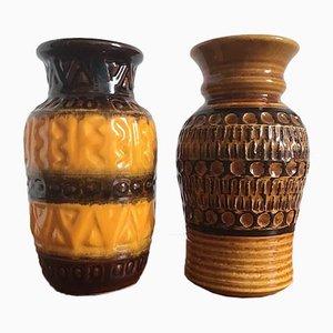 Jarrones alemanes vintage de Bodo Mans para Bay Keramik, años 60. Juego de 2