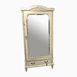 Armario francés de roble macizo con espejo, años 30