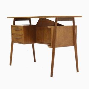 Schwebender dänischer Schreibtisch aus Teak von Gunnar Nielsen Tibergaard für Tibergaard, 1960er