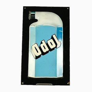 Insegna pubblicitaria Odol vintage smaltata