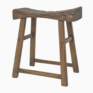 Antique Chinese Wooden Saddle Stool