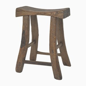 Antique Chinese Wooden Saddle Stool