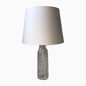 Vintage Swedish Art Glass Table Lamp from Kosta Boda, 1960s