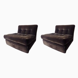 Amanta Lounge Chairs by Mario Bellini for C&B Italia, 1970s, Set of 2