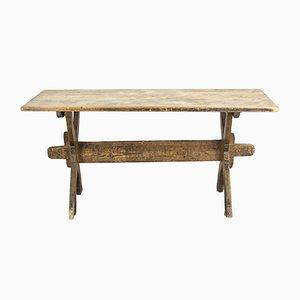 Tavolo da fattoria in legno, Svezia, XIX secolo