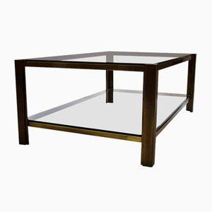 Table Basse Vintage en Laiton de Maison Jansen