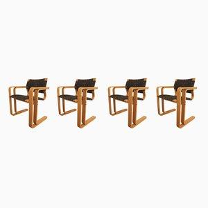 Model 5531 Dining Chairs by Thygesen & Sørensen for Magnus Olesen, 1980s, Set of 4