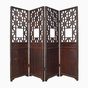 Paravent Antique en Bois, Chine