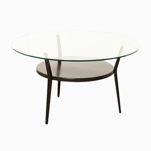 Mesa de centro de acero y vidrio de Friso Kramer para Ahrend De Cirkel, años 60