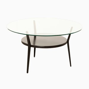Steel and Glass Coffee Table by Friso Kramer for Ahrend De Cirkel, 1960s