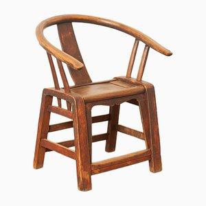 Antiker chinesischer Ming Armlehnstuhl aus Ulmenholz