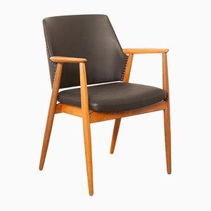 Stuhl mit Gestell aus Teak & Bezug aus Skai von Cees Braakman für Pastoe, 1960er