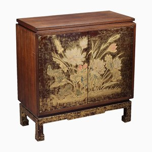 Mueble de madera lacada y grabada de Pierre Bobot, años 40
