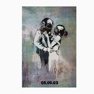 Poster promozionale Think Tank dei Blur di Banksy, 2003