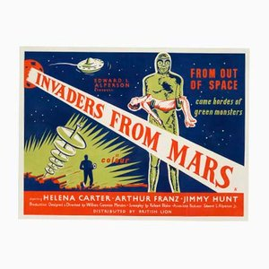 Britisches Invaders from Mars Filmposter, 1954
