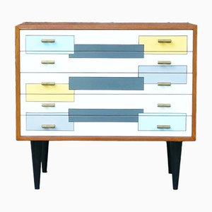 Vintage Painted Teak Chest of Drawers, 1960s