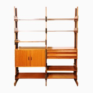 Large Vintage Italian Shelving Unit, 1960s