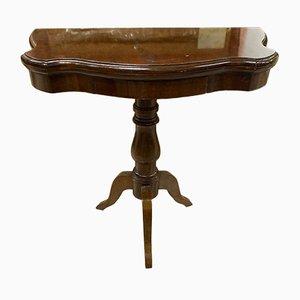 Tavolo da gioco vintage in mogano