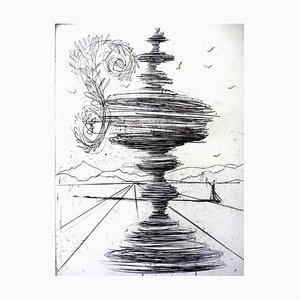 Gravure à l'Eau-Forte The Fountain par Salvador Dali, 1966