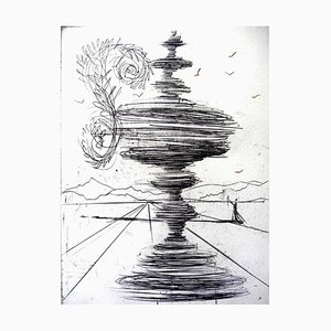 The Fountain Etching by Salvador Dali, 1966