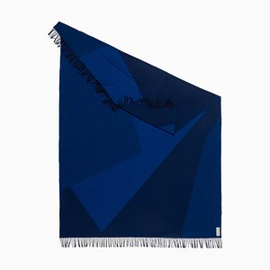 Geometric Planes x Blue Throw Blanket by Catharina Mende