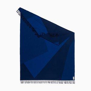 Manta Planes x azul con motivos geométricos de Catharina Mende