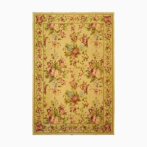 Vintage Middle Eastern Wool Hand-Knotted Floral Carpet, 1973