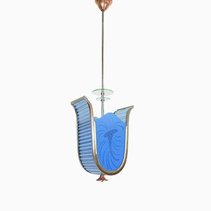 Lámpara colgante italiana Art Déco, años 20