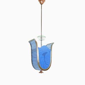 Lampe à Suspension Art Déco, Italie, 1920s