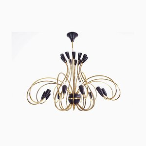 Vintage Italian 24-Arm Chandelier from G.C.M.E., 1950s