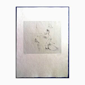 She Rises Etching by Hans Bellmer, 1973