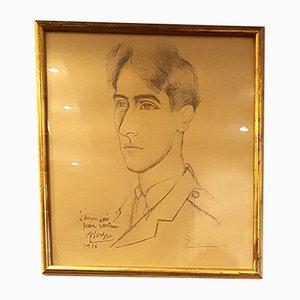 Portrait of Jean Cocteau Druck von Pablo Picasso, 1916