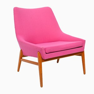 Vintage Pink Lounge Chair by Jonas Ihrebron for Teve, 1950s