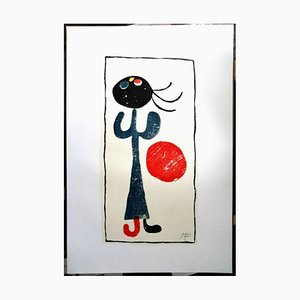 Lithographie Little Girl with Red Balloon par Joan Miró