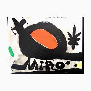 Sun Bird Poster von Joan Miró, 1967