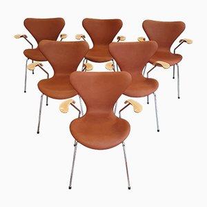 Sedie da pranzo nr. 3207 vintage di Fritz Hansen, inizio XXI secolo, set di 6