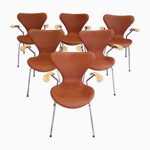 Vintage 3207 Dining Chairs from Fritz Hansen, 2000s, Set of 6
