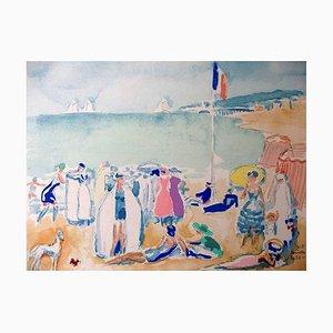 Portfolio Deauville avec 10 Pochoirs Imprimés by Kees Van Dongen, 1931
